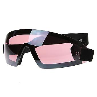 Frameless Protective Eyewear UV400   Sports Shield Goggles with Adjustable Strap