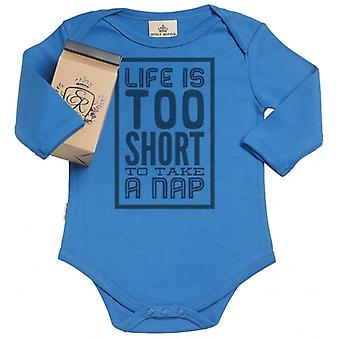 Spoilt Rotten Life Too Short For Naps Organic Babygrow In Gift Milk Carton