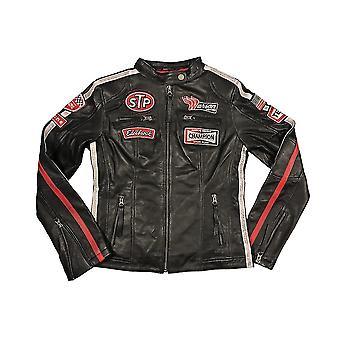 Warson Motors Womens Daytona Black Leather Jacket