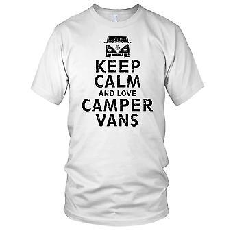 Holde ro og elsker Camper varebiler VW damer T skjorte