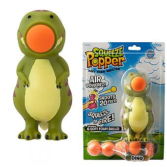 Cheatwell Games Dino Squeeze Popper 2 Pack - Soft Foam Shooter Bundle