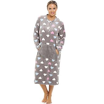 Camille Multi Coloured Heart Print Supersoft grau liege