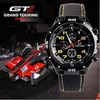 Homme sport analogique GT montre noir/rouge Orange