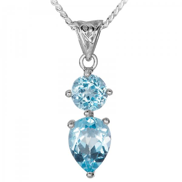 Shipton and Co Bright Blue Topaz With Celtic Style Nuances