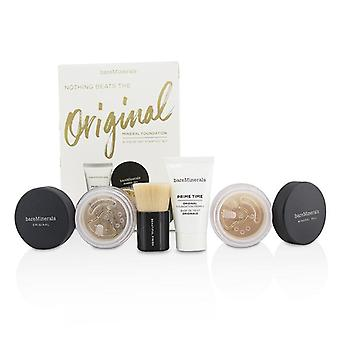 Bareminerals Get Started Mineral Foundation Kit - # 18 Medium Tan - 4pcs