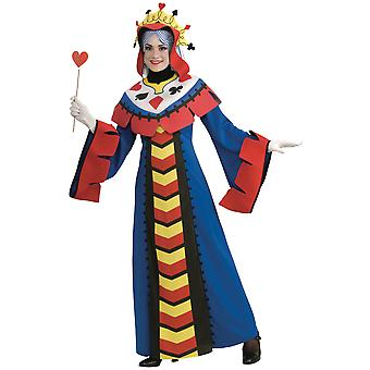 Playing Card Queen Of Hearts Poker Alice In Wonderland Women Costume