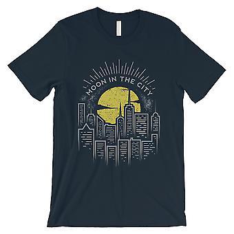 Księżyc w miasto marynarki męskie graficzny Koszulka prezent niepowtarzalny Vintage Design