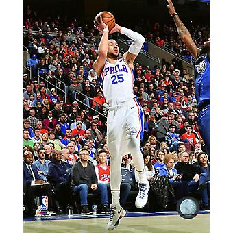 Ben Simmons 2017-18 Action Photo Print