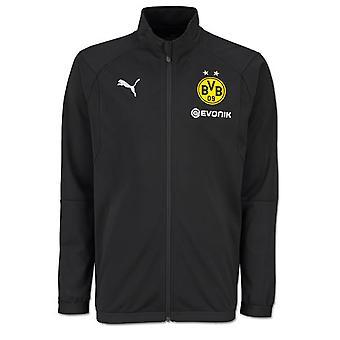 2018-2019 Borussia Dortmund Puma Poly giacca (nero) - bambini
