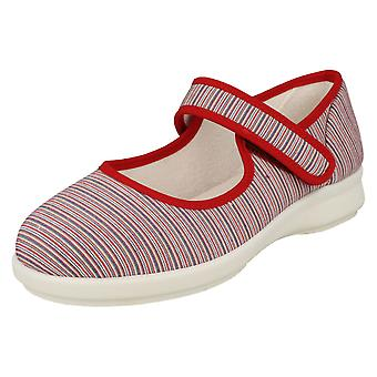 Ladies Easy B Canvas Mary Jane Zapatos Jura