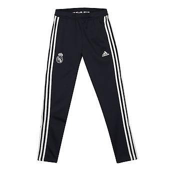 2018-2019 Real Madrid Adidas képzés kötött bemutatása pants (Dark Grey)-gyerekek