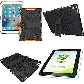 Hybrid outdoor protective case Orange for iPad Pro 9.7 bag + 0.4 H9 tempered glass