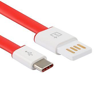OnePlus due / 3 OnePlus 3T / OnePlus 5 cavo dati USB-C / C tipo batteria caricatore cavo bianco rosso nuovo