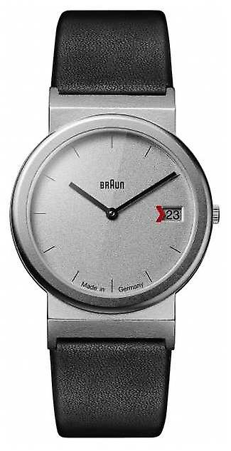 Braun Classic 1989 Tribute Design Black Leather Strap Grey AW50 Watch