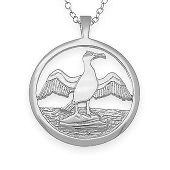 Sterling Silber traditionelle schottische Natur im Flug Kormoran Hand gestaltete Halskette Anhänger