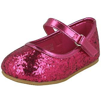 Dimensione di punto di ragazze su Glitter Bar cinturino ballerine H2483 - Nero Glitter - UK 4 - EU taglia 21 - US taglia 5