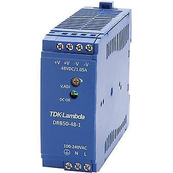 TDK-Lambda DRB-50-48-1 Rail mounted PSU (DIN) 48 V DC 1.05 A 50.4 W 1 x