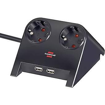 Brennenstuhl 1153500222 Tira de enchufe (sin interruptor) Conector PG negro 1 pc(s)
