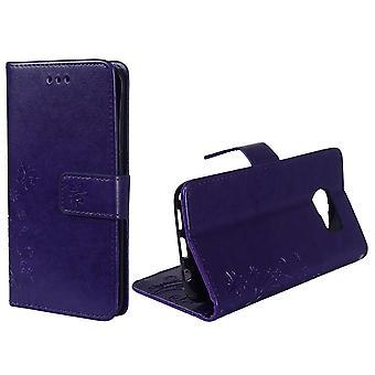 Beskyttende dække blomster til mobil Samsung Galaxy S7 kant violet