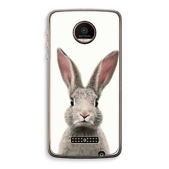 Motorola Moto Z Force transparant Case (Soft) - Daisy