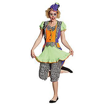 Clown robe néon Mesdames costume fou Carnaval Carnaval Cirque