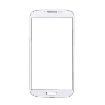 Stuff Certified® Samsung Galaxy S4 i9500 Glass Plate Front Glass A + Quality - White