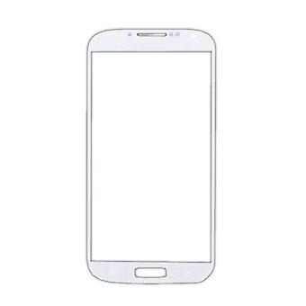 Ting sertifisert® Samsung Galaxy S4 i9500 Glass Plate Front Glass A + Kvalitet - Hvit