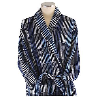 Bown of London Hereford Check Luxury Dressing Gown - Blue/Grey