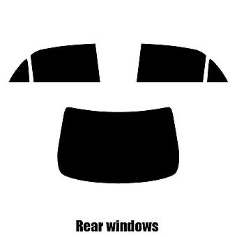 Pre cut window tint - Toyota Corolla 4-door Saloon - 2007 to 2010 - Rear windows