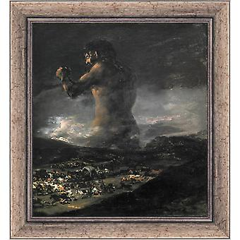 With Ram The Colossus or Panic, Francisco Goya, 61x51cm