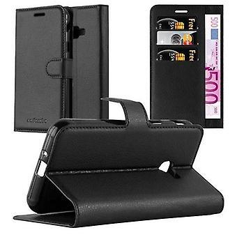 Futerał Cadorabo do obudowy Samsung Galaxy XCover 4- etui na telefon z magnetycznym zapięciem, funkcją stojaka i komorą na kartę - Obudowa ochronna Case Book Folding Style
