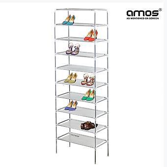 AMOS 10 Tier Extendable Shoe Rack
