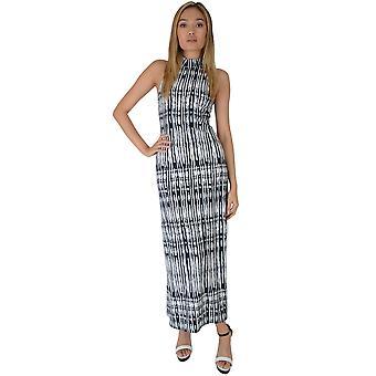 Lovemystyle Blue und White Tie-Dye-Maxi-Kleid mit Rückenausschnitt