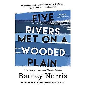 Vijf rivieren hebben elkaar ontmoet op een beboste vlakte