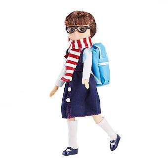Lottie Doll School Days Figure with Outfit Accessories Set Tangle Resistant Hair