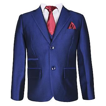 Jongens Fit Regular Royal blauw pak Set