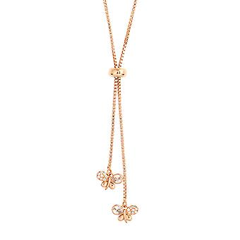 Bertha Willow Collection Women's 18k RG Plated Bolo Bee Fashion Necklace