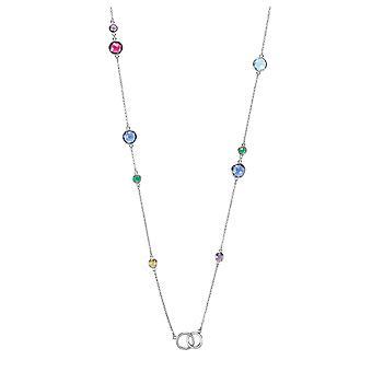 Orphelia Silver 925 halsband med mångfärgade stenar 90 CM