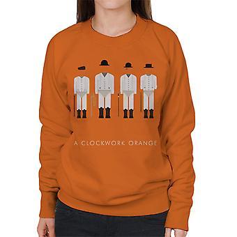 A Clockwork Orange Droog Outfit Movie Silhouette Women's Sweatshirt
