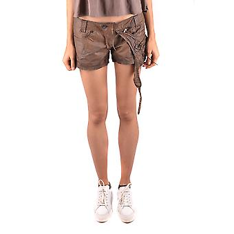 Daniele Alessandrini Ezbc107084 Women's Brown Cotton Shorts