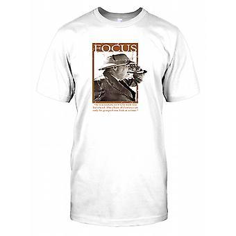 Winston Churchill - Focus - łańcuch przeznaczenia męskie T Shirt