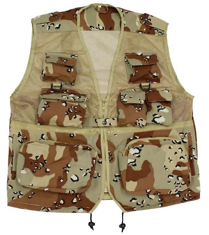 Original Multi Pocket Fishing Vest Net Waistcoat