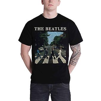 The Beatles T Shirt Abbey Road Crossing Band Logo new Official Apple Mens Black