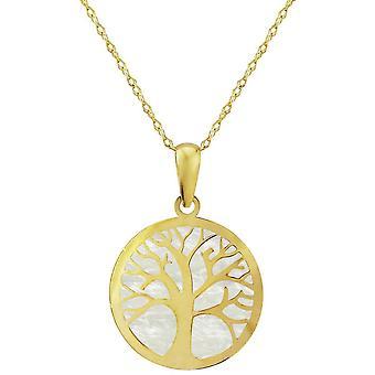 Mark Milton mor av Pearl Tree of Life pendel-gult guld
