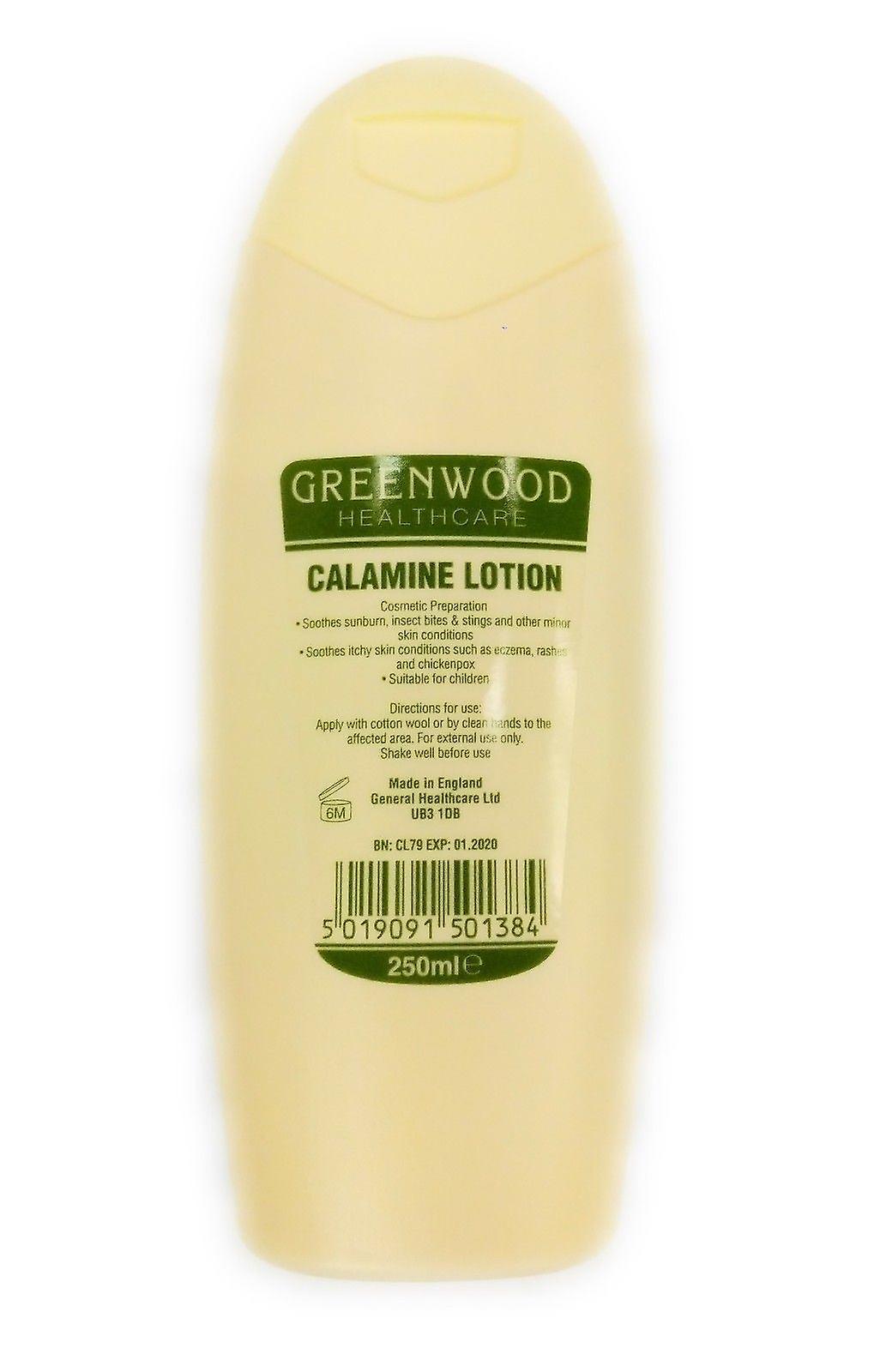 GreenWood Calamine Lotion Smooths sunburn, bites, itchy skin, stings, chickenpox