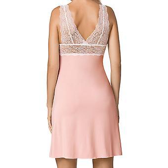 Nipplex Women's Samanta Pink Lace Night Gown Loungewear Nightdress