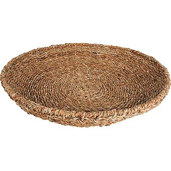 Seagrass Round Tray With Iron Frame