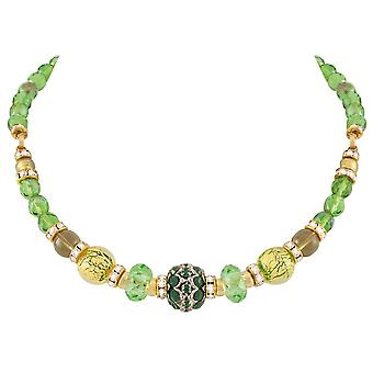Eternal Collection Baroque Peridot Venetian Murano Glass Necklace