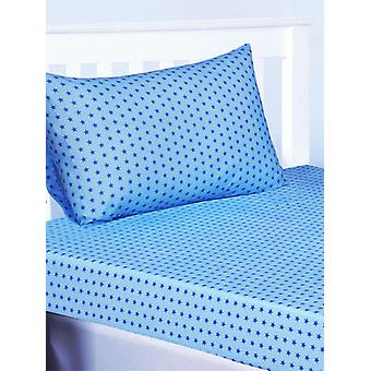 Trucks and Transport Stars Fitted Sheet and Pillowcase Set