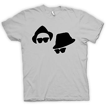 Womens T-shirt-Blues Brothers Gesichter